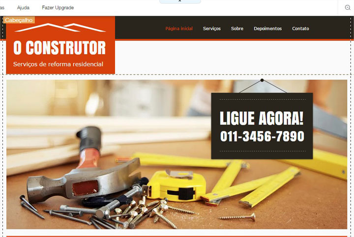 editor construtor de sites site
